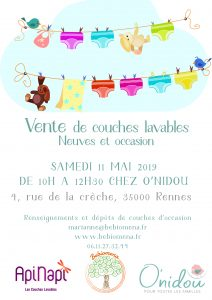 vente de couches lavables d'occasion